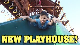 Download I GOT MONKEY BARS!!! New Playhouse Surprise! Video