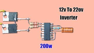 TL494 Inverter Circuit, 12V to 220V AC Free Download Video