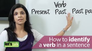 Download English Grammar Lessons : How to identify a verb in a sentence. Video
