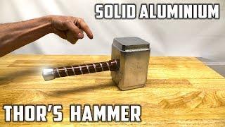 Download Casting Thor's Hammer from Molten Aluminium Foil Balls - Avengers Infinity War Theme Video