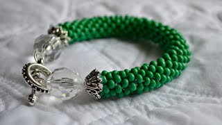 Download Glass Beaded Bracelet : Crocheted Rope Tutorial Video