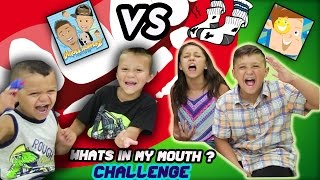 Download DINGLE HOPPERZ VS FUNnel VISION !! WHATS IN MY MOUTH ?!? FUNNY, GROSS! | CHALLENGE Video