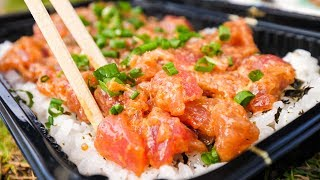 Download Food in Hawaii - POKE BOWLS and Seafood at Tanioka's in Waipahu, Hawaii! Video