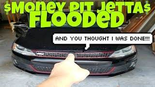 Download FLOODED Immediately after Rebuilding Salvage Jetta GLI (Money Pit) Video