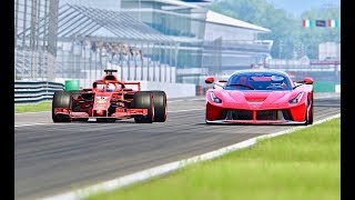 Download Ferrari F1 2018 vs La Ferrari - Monza Video