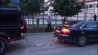 Download Audi A8 4.2 TDI vs Land Rover Deffender - Tug of War Video