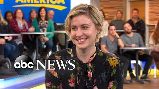 Download Greta Gerwig opens up about 'Lady Bird' live on 'GMA' Video