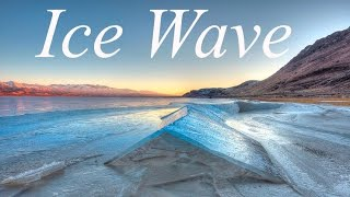 Download Ice Wave - 4K drone footage of a bizarre ice sheet buckling near the shore. Video