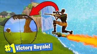 Download Sniping While RIDING A Rocket! [Fortnite] Video