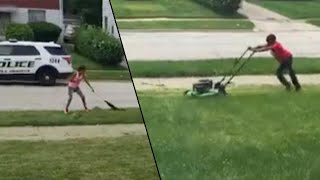 Download Ohio Community Helps Boy's Lawn Cutting Business After Cops Were Called on Him Video