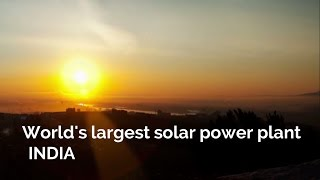 Download India builds the world's largest solar power plant - JD Official Video