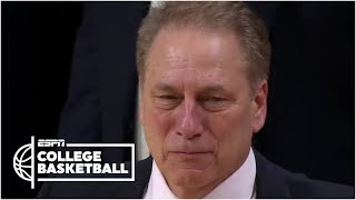 Download Tom Izzo emotional saying goodbye to players on Michigan State senior night | College Basketball Video