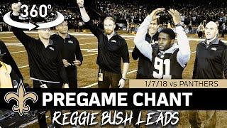 Download Reggie Bush Leads Saints Pregame Chant in Playoffs | Saints 360° Video