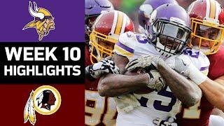 Download Vikings vs. Redskins | NFL Week 10 Game Highlights Video