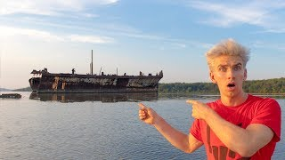 Download SEARCHING FOR ABANDONED GHOST SHIP!! (HAUNTED WRECK) Video