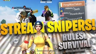 Download Ferg, Hawksnest, Gregory and Seth vs STREAMSNIPERS in Rules of Survival (INSANE) Video