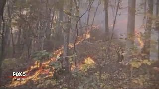 Download About 100 homes evacuated in North Carolina due to wildfire Video