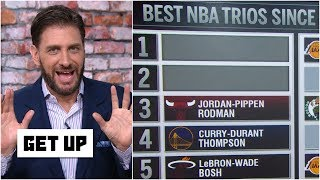 Download Greeny has issue with Bulls' trio of Jordan, Pippen & Rodman being ranked 3rd best | Get Up Video