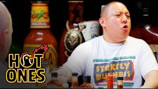 Download Eddie Huang Gets Destroyed by Spicy Wings | Hot Ones Video