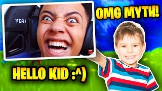 Download Myth Plays With 10 Year Old Kid In Fortnite (FUNNY) | Fortnite Battle Royale Video