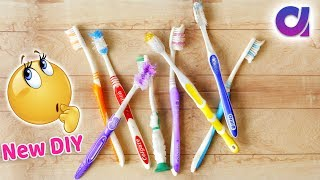 Download How to Reuse Old Waste Toothbrush at home | Best out of waste | Artkala 473 Video