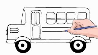 Download How to Draw a School Bus Easy Step by Step Video