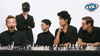 Download Can 4 Guys Beat A Blindfolded Chess Master? • The Try Guys: 4 Vs. 1 Video