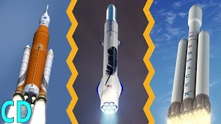 Download The New Space Race to the Moon between NASA, SpaceX and Blue Origin Video