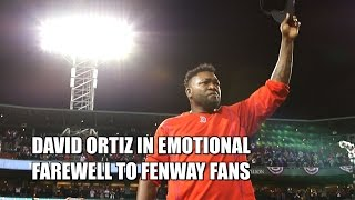 Download Big Papi David Ortiz Emotional Farewell to Red Sox Fenway Park Fans Video