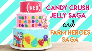 Download How to Make a Farm Heroes Saga and Candy Crush Jelly Saga Cake! Video