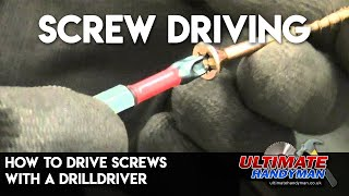 Download How to drive screws with a drill/driver Video