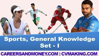 Download Sports, General Knowledge GK Questions with Answers, Competitive Exams Quiz, Set I Video