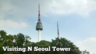 Download Visiting N Seoul Tower (N 서울타워 or Namsan Tower) in South Korea Video