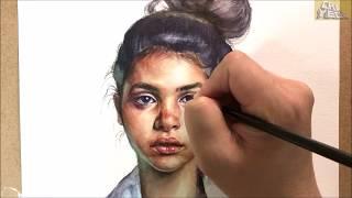 Download Watercolor Portrait demonstration / 인체수채화, 인물수채화 Video