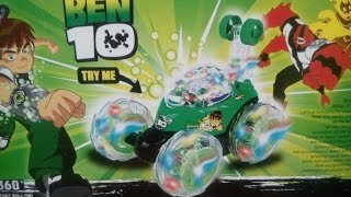 Download BEN 10 360 DEGREE STUNT ROLLING CAR KIDS TOYS Unboxing, Race, and Review! Video