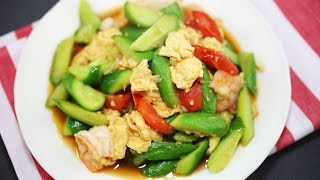 Download How To Make Cucumber Fried Egg - Thai Recipe Video