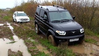 Download Renault Duster 2.0AT 4WD и UAZ Patriot в грязи Video