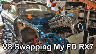 Download V8 IN FD RX7!! Haters Gonna Hate. #czerof*cksgiven - FD RX7 Race Car Build Video Series 30 Video