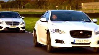 Download Mercedes S63 AMG vs Jaguar XJR: Part One - Fifth Gear Video