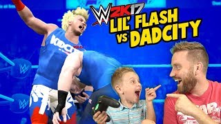 Download WWE 2k17 Lil' Flash vs DadCity TITLE MATCH with Spider-Man & Denis! Video