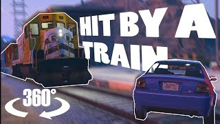 Download Hit By A Train In Virtual Reality!   A 360° Experience   GTA VR Video