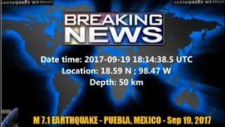 Download M 7.1 EARTHQUAKE - PUEBLA, MEXICO - Sep 19, 2017 Video