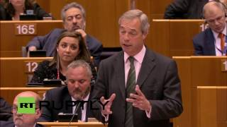 Download 'You are not laughing now, are you?' Nigel Farage at European Parliament (FULL SPEECH) Video