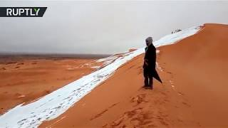 Download Snow in Sahara: See what winter in the desert looks like Video