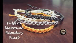 Download DIY TUTORIAL Pulsera de Macramé Rápida y Fácil/Macrame Bracelet Easy Video