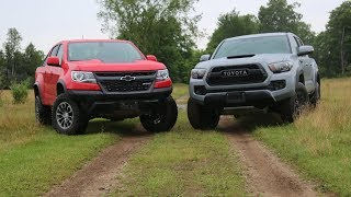 Download Shootout: 2017 Chevy Colorado ZR2 vs Toyota Tacoma TRD Pro Video