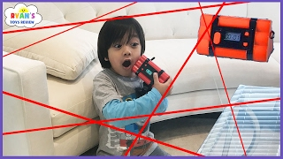 Download Spy Kid Laser in the House Chrono Bomb Game! Family Fun Activities for Kids with Ryan ToysReview! Video