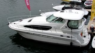Download 2005 Sea Ray 390 Motor Yacht Exterior and Interior - 2012 Montreal In-Water Boat Show Video