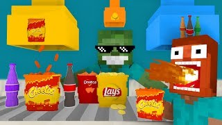 Download Monster School: WORK AT SNACKS PLACE! - Minecraft Animation Video