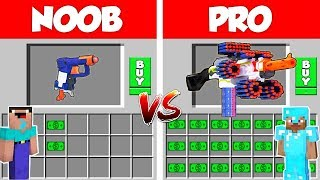 Download Minecraft NOOB vs PRO: 1 Million$ Nerf Gun Battle in Minecraft / Animation Video